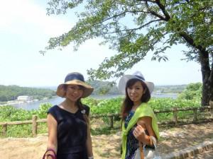 吉崎御坊跡から見える北潟湖