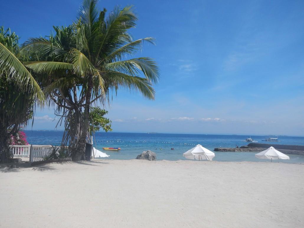 セブ島のプランテーションベイのプライべートビーチ