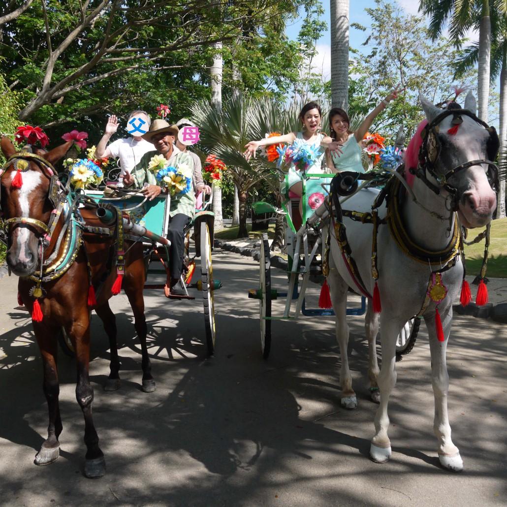セブ島プランテーションベイリゾート&スパの馬車